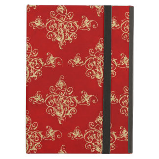 Asian Gold and Red Glitter Florish iPad Air Case For iPad Air