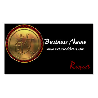 Asian Gold Coin Respect Business Cards
