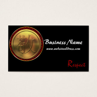 "Asian Gold Coin ""Respect"" Business Cards"