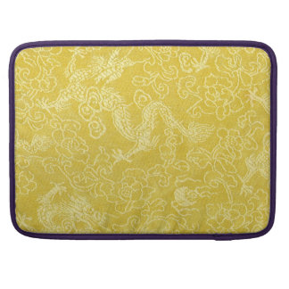 Asian Gold Dragon Embroidery MacBook Pro Sleeve