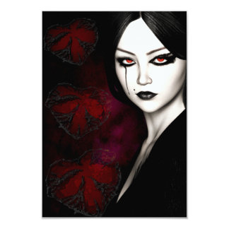 Asian gothic card