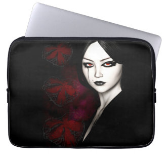 Asian gothic computer sleeve
