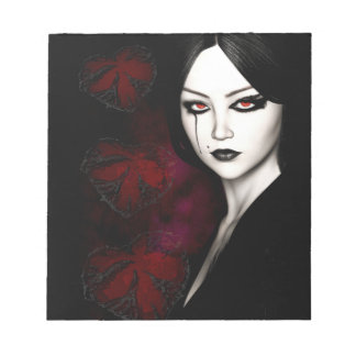 Asian gothic notepad