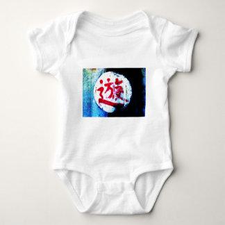 Asian graffiti baby bodysuit