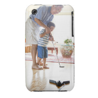 Asian Grandfather teaching his Half-Asian iPhone 3 Case-Mate Case
