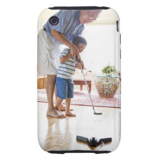 Asian Grandfather teaching his Half-Asian iPhone 3 Tough Cover