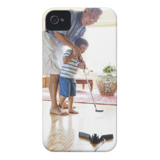 Asian Grandfather teaching his Half-Asian iPhone 4 Case-Mate Case