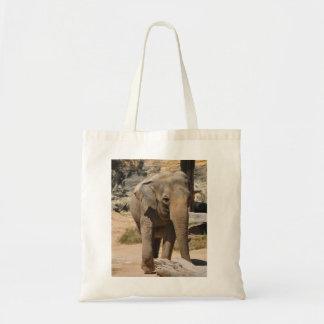 Asian Gray Elephant Tote Bag