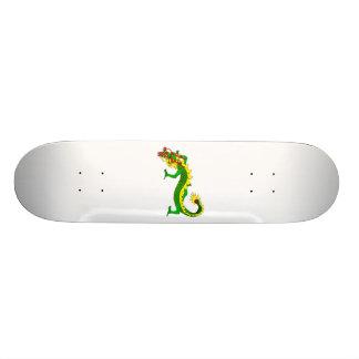 Asian Green Angry Dragon Skateboard