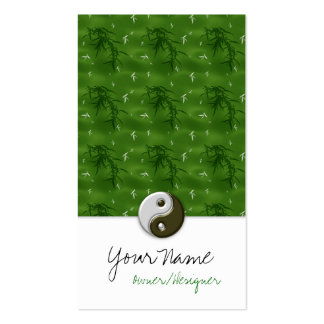 Asian Green Design Ying/Yang Business Cards