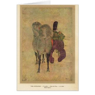 Asian horseman 15th century greeting cards