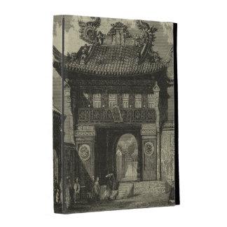 Asian Imperial Temple in Black & White iPad Folio Cases