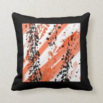 ASIAN INSPIRED ABSTRACT Throw Pillow