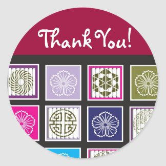 Asian Inspired Design Thank You Sticker