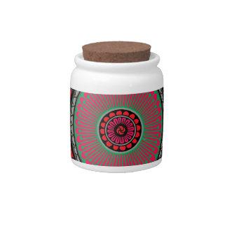 Asian Inspired Red Mandala Candy Jars