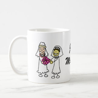 Asian interracial Lesbian Wedding Bride Coffee Mug