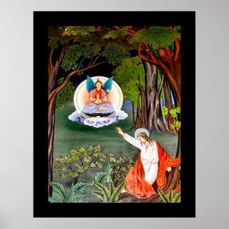 Asian Jesus Art Nouveau Poster