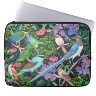 Asian Jungle Birds Electronics Bag