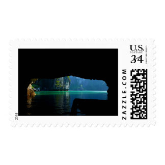 Asian Lake Cave Postage