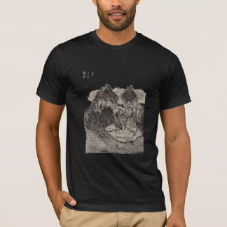 asian landscape charcoal drawing T-Shirt