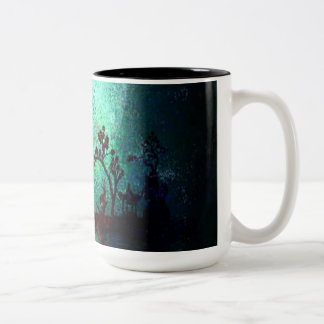 Asian Landscape Collection Two-Tone Coffee Mug
