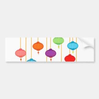 asian lanterns bumper sticker