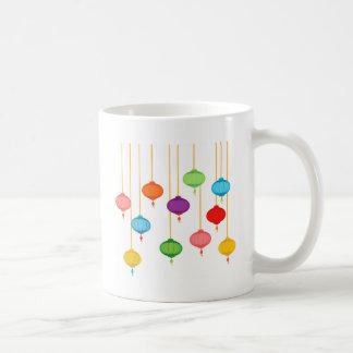 asian lanterns coffee mug