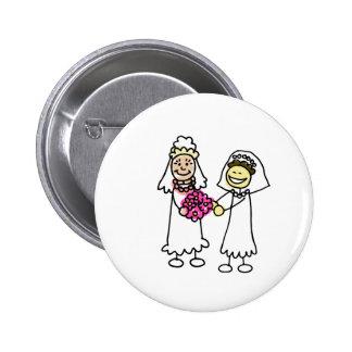 Asian Lesbian Wedding Brides 2 Inch Round Button