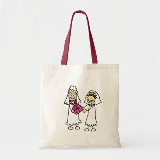 Asian Lesbian Wedding Brides Budget Tote Bag