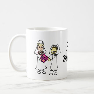 Asian Lesbian Wedding Brides Coffee Mug