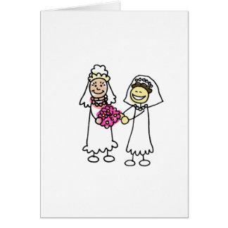 Asian Lesbian Wedding Brides Greeting Card