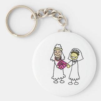 Asian Lesbian Wedding Brides Basic Round Button Keychain
