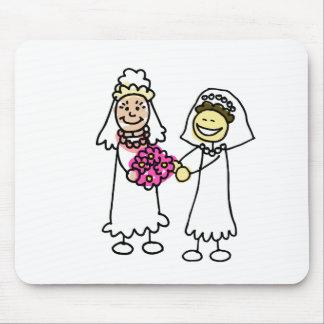Asian Lesbian Wedding Brides Mouse Pad