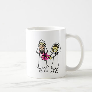 Asian Lesbian Wedding Brides Classic White Coffee Mug