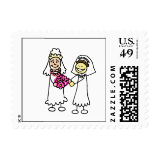 Asian Lesbian Wedding Brides Postage