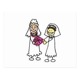 Asian Lesbian Wedding Brides Postcard