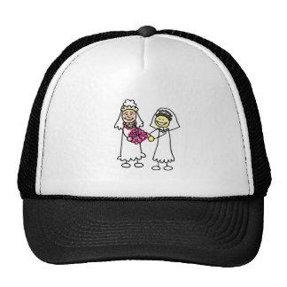 Asian Lesbian Wedding Brides Trucker Hat