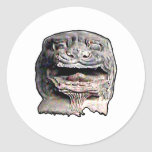 Asian Lion Head transp o 2 The MUSEUM Zazzle Gifts Classic Round Sticker