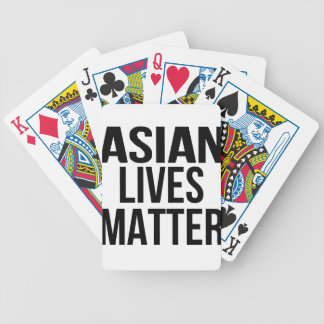 Asian Lives Matter Bicycle Playing Cards