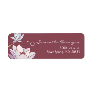 Asian Lotus Elegant Address Labels