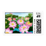 Asian Lotus Flowers Stamps
