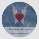 Asian Love Bookplate Classic Round Sticker