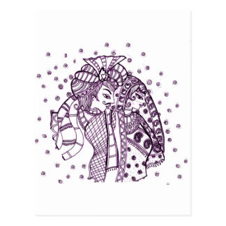 asian mehndi-Wedding Postcards