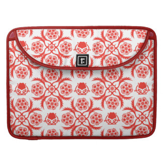Asian/Middle Eastern pattern (Red) Sleeves For MacBook Pro