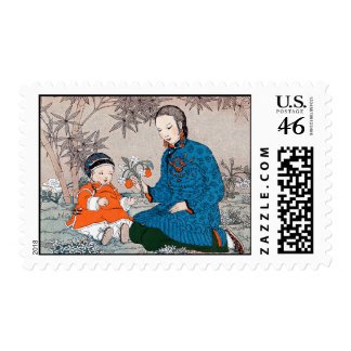 Asian Mother Baby Stamp