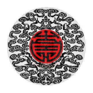 Asian motif cutting board