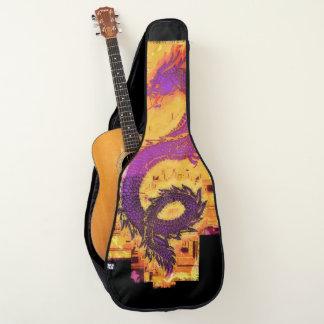 Asian Mythical Dragon Design Guitar Case