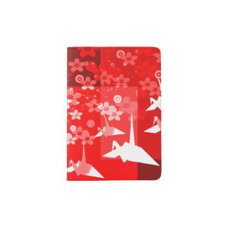 Asian Origami Inspired Passport Wallet Passport Holder
