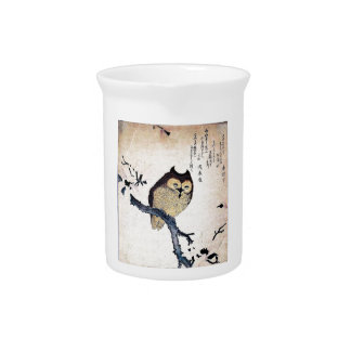 Asian Owl Beverage Pitcher
