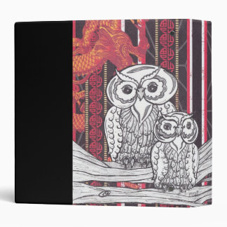 Asian Owls Binder